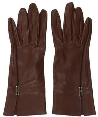 Hermes Leather Logo Gloves