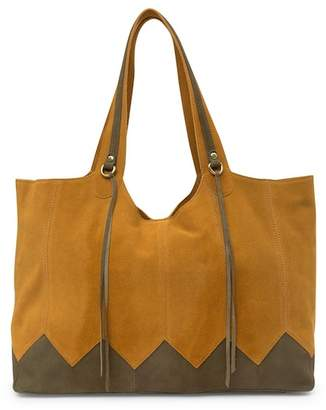 Hobo Arrow Suede Tote Bag
