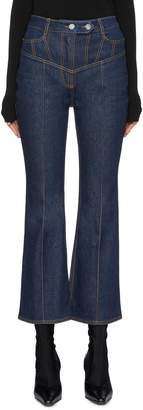 Ellery 'Presentism' contrast topstitching flared jeans