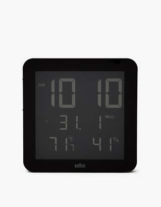 Braun BNC014 Digital Wall Clock in Black