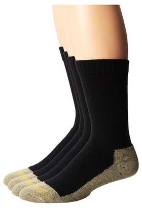 Dan Post Work Outdoor Socks Mid Calf Mediumweight Steel Toe 4 pack Men's Crew Cut Socks Shoes
