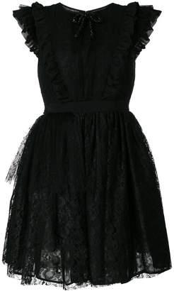 MSGM ruffled lace flared dress