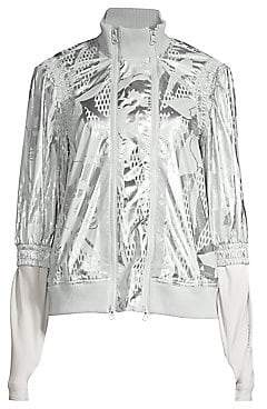 adidas by Stella McCartney Women's Metallic Abstract Flower Jacket