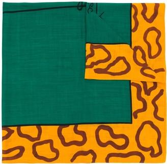 JC de CASTELBAJAC Pre-Owned leopard squared scarf