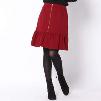 Queens Court (クイーンズ コート) - QUEENS COURT 裾フリルミニスカート