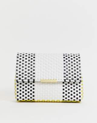 Ted Baker Madiee woven clutch bag