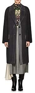 Prada Women's Brushed Wool-Blend Melton Coat - Gray