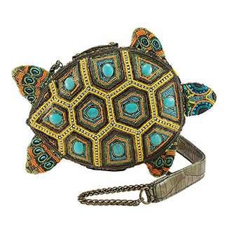 Mary Frances Turtle by The Sea Beaded Crossbody Novelty Handbag