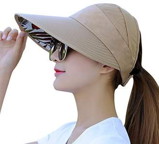 153414fa1b0 HINDAWI Sun Hats for Women Wide Brim UV Protection Summer Beach Visor Cap