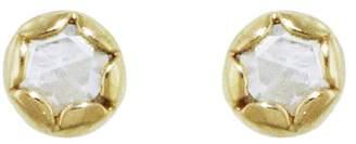 Megan Thorne Lottie Rose Cut Diamond Stud Earrings - Yellow Gold