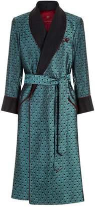 Daniel Hanson Peacock Silk Robe