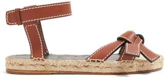 Loewe Gate Knotted Leather Sandals - Womens - Tan