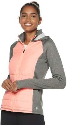 Fila Sport Women's SPORT Mixed-Media Hooded Jacket