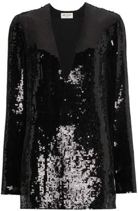 Saint Laurent sequin embellished dress