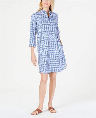 022a6efdf0 Max Mara Tile-Print Cotton Shirtdress