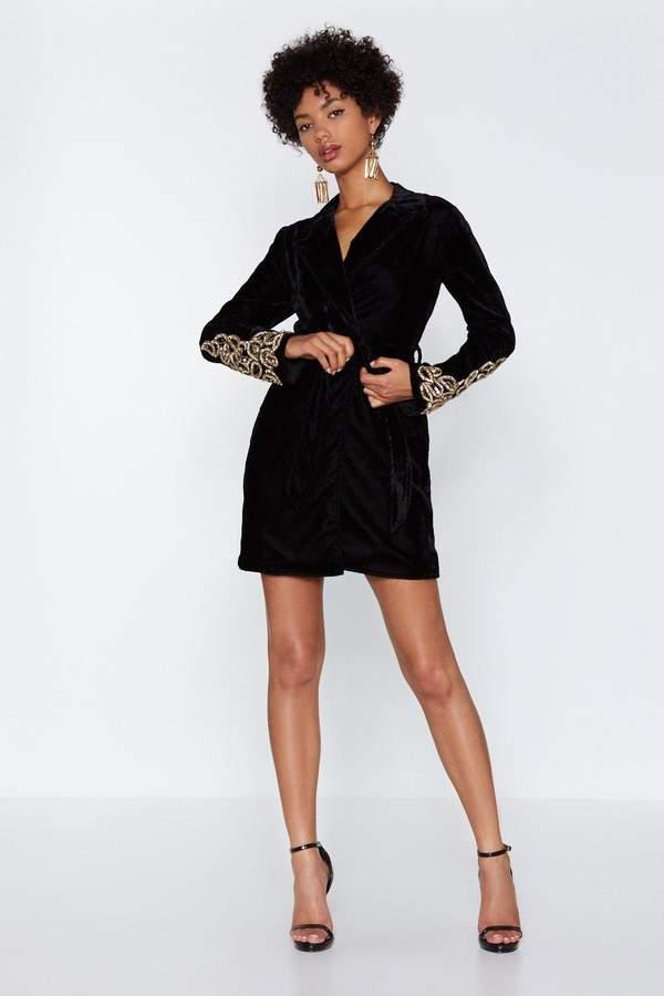 Magic Touch Velvet Blazer Dress