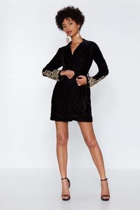 Nasty Gal Magic Touch Velvet Blazer Dress