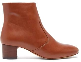 A.P.C. Joey Leather Ankle Boots - Womens - Tan