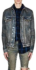Amiri Men's Paint Splatter Denim Jacket - Blue