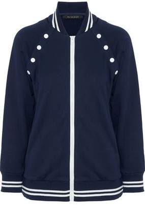 Walter W118 By Baker Morrison Button-detailed Cotton-blend Jersey Bomber Jacket