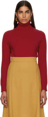 Chloe Red Cashmere Turtleneck