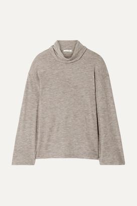 The Row Zalani Oversized Mélange Stretch-cashmere Turtlneck Sweater - Beige
