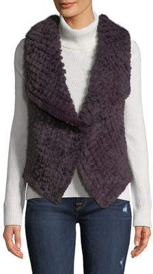 Bagatelle Draped Open-Front Faux-Fur Vest