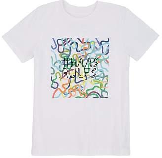 "Barneys New York Haas Brothers Xo Kids' ""#haasrules"" Jersey T-Shirt"
