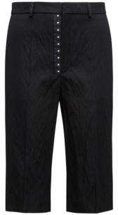 HUGO Boss Cotton Blend Cropped Pant Heralia FS 4 Black