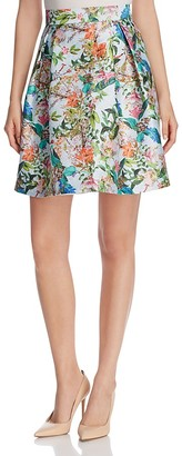 FINITY Floral Print Flared Skirt $148 thestylecure.com