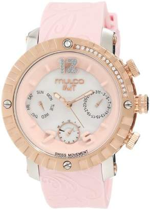 """Mulco Unisex MW5-1622-813 """"Nuit"""" Stainless Steel Watch"""