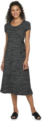Croft & Barrow Womens Cap Sleeve Scoop Neck Dress