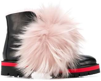 Mr & Mrs Italy furry detail biker boots