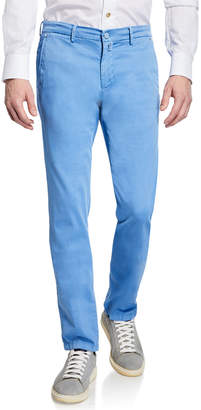 Kiton Men's Silk-Blend Straight-Leg Pants