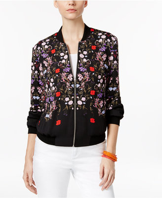 INC International Concepts Floral-Print Bomber Jacket, Only at Macy's $99.50 thestylecure.com