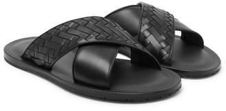 Bottega Veneta Intrecciato Leather Sandals - Black
