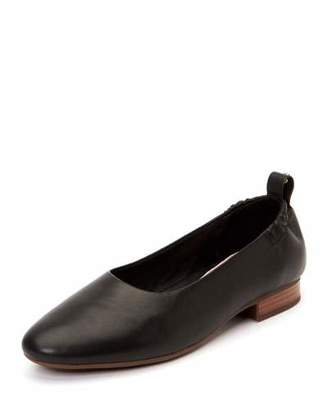 Taryn Rose Bess Leather Ballet Flats with Contoured Arch Support