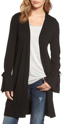 Women's Halogen Lightweight Tie Sleeve Cardigan $69 thestylecure.com