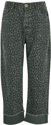 One Teaspoon Oneteaspoon Bandits Leopard-print Wide-leg Jeans