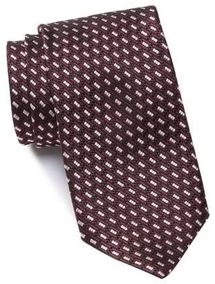 Ermenegildo Zegna Silk Dash Grid Tie