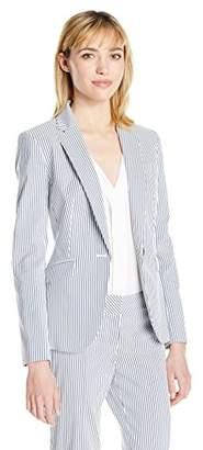 Nine West Women's Stripe 1 Button Jacket