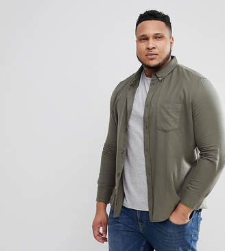 French Connection PLUS Flannel Plain Shirt