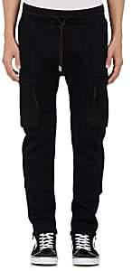 Helmut Lang MEN'S NEOPRENE CARGO JOGGER PANTS-BLACK SIZE XL