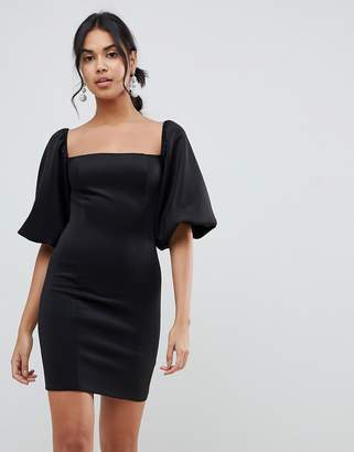 Asos Design DESIGN puff sleeve mini dress