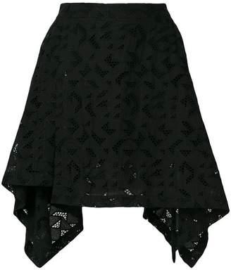 Neil Barrett geometric patterned skirt