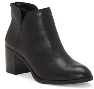 Enzo Angiolini Jainn Leather Block Heel Bootie