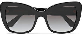 Dolce & Gabbana Cat-eye Acetate Sunglasses - Black