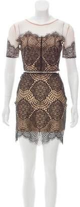 For Love & Lemons Crochet Lace Skirt Set