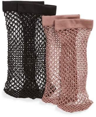 Nordstrom 2-Pack Fishnet Ankle Socks