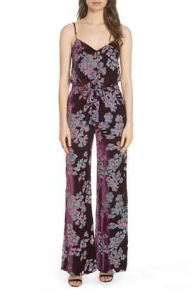Saloni Loretta Floral & Stripe Print Jumpsuit